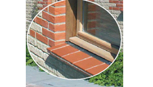 Tile creasings used foe window cills. From Marley