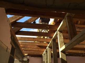 A maze of joists and beams