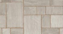Grey Multi Indian Sandstone paving from Jewson.