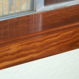 Oak cills which will need maintenance. Google image