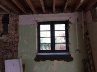 New kitchen window installed and aperture adjusted