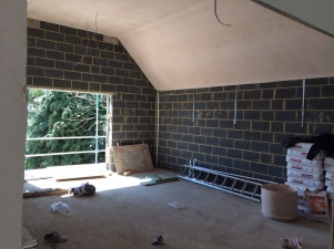 Master Bedroom during construction