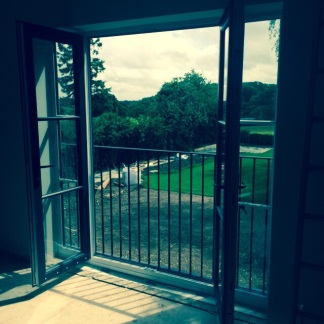 Great to be able to open the French doors