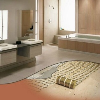 Electric underfloor heating matting image from u.s.kohler.com