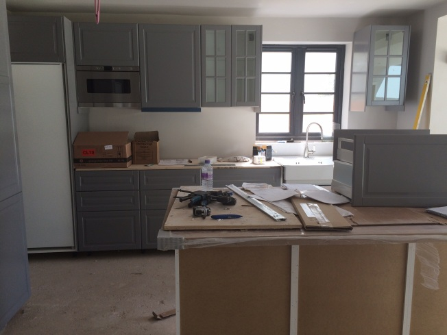 Kitchen installation progressing