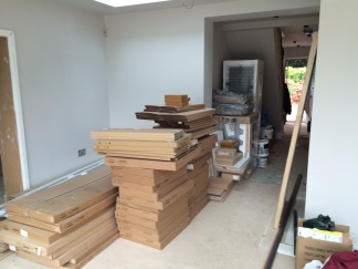 The kitchen has been delivered