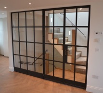 Bespoke metal partitons and door from Lightfoot Windows (Kent ltd)