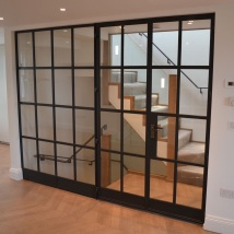 Bespoke metal partitons and door from Lightfoot Windows (Kent ltd)