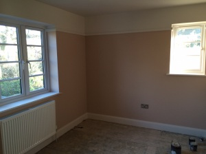 Bedroom ready for carpet and curtains