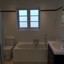 Completed family bathroom, just waiting for the blind