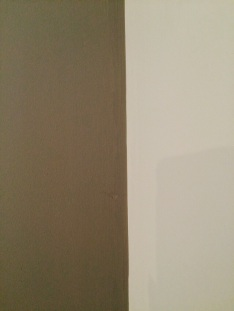One final coat of Farrow and Ball's 'Mole's Breath' and the wall dried perfectly even.