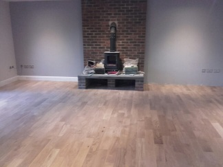 The finished floor