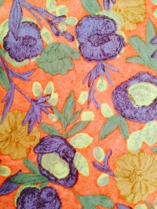 Cotton dress fabric also discovered in a cupboard