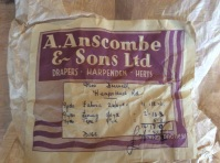 Original label from the fabric
