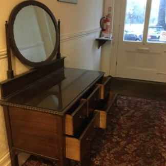 Dark Original Edwardian Dressing Table
