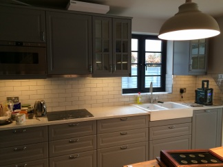 A cohesive run of back splash