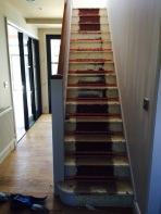 Stairs before carpet fitting