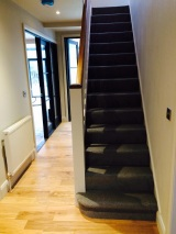 Stairs after carpet fitting