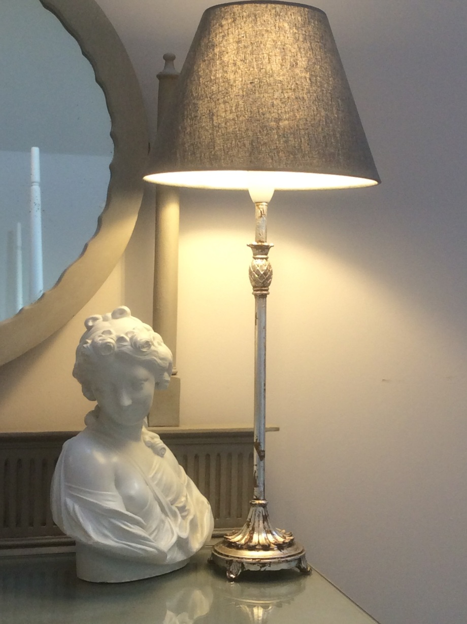 Silver gilded lamp base