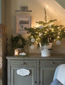 Small Christmas tree adding impact in small space