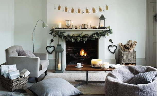 Countrystyle hearth and decor