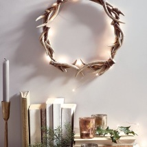 Antler Wreath with lights from Cox and Cox