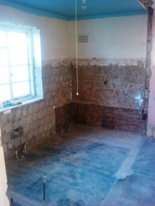 Internal walls removed to form one room
