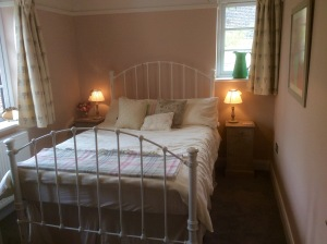 After - from three rooms to a guest bedroom in Farrow and Ball Setting Plaster
