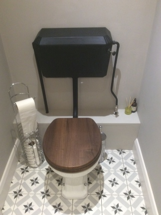 A refurbished original 1930's toilet cistern