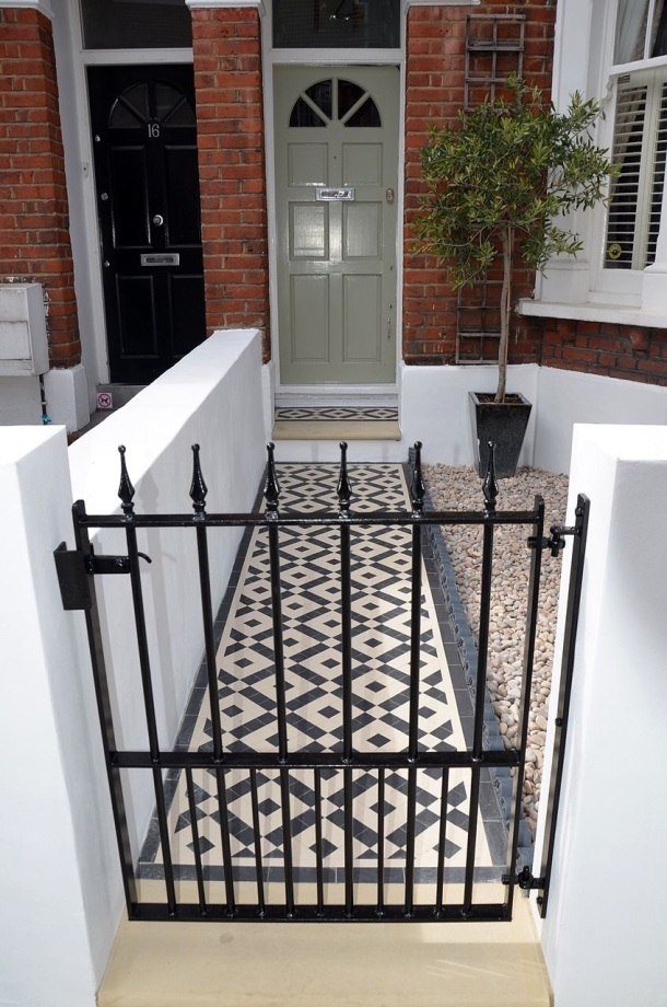 Front path and door of Victorian house