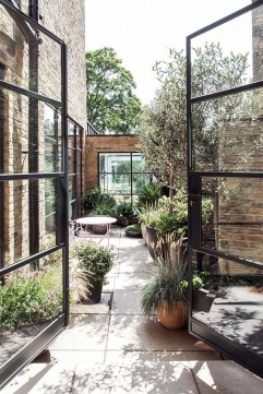 Low maintenance small courtyard garden