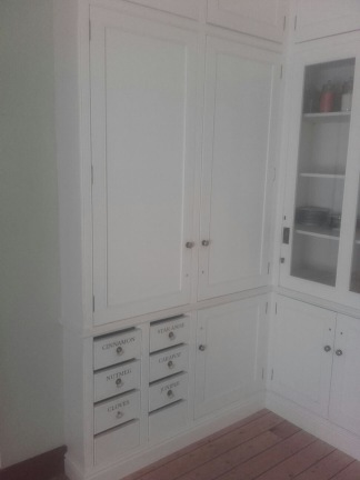 Georgian example of a walk in pantry or larder cupboard