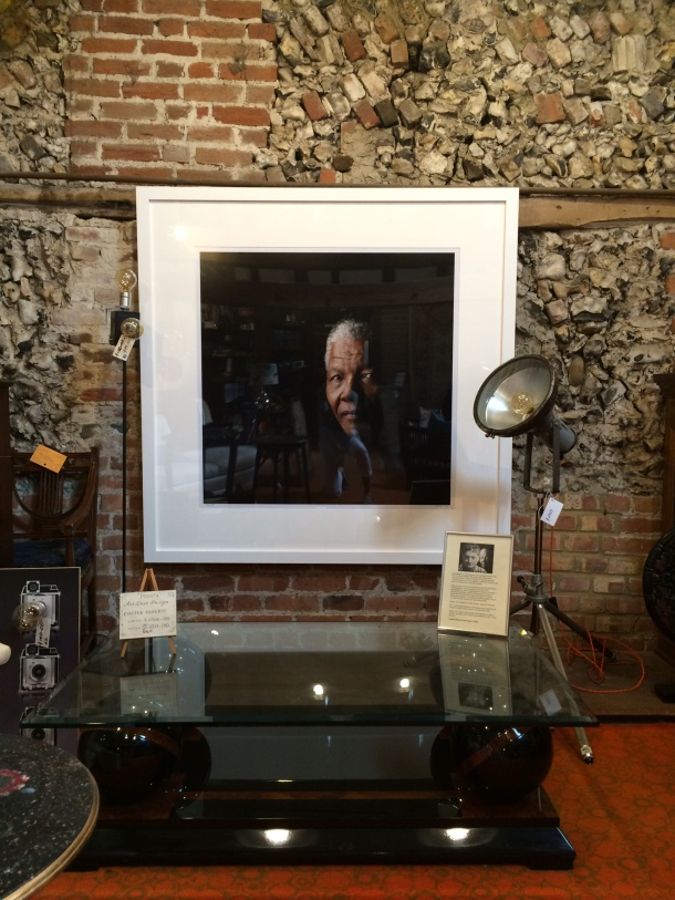 Limited edition framed photograph of Nelson Mandela by Greg Bartley