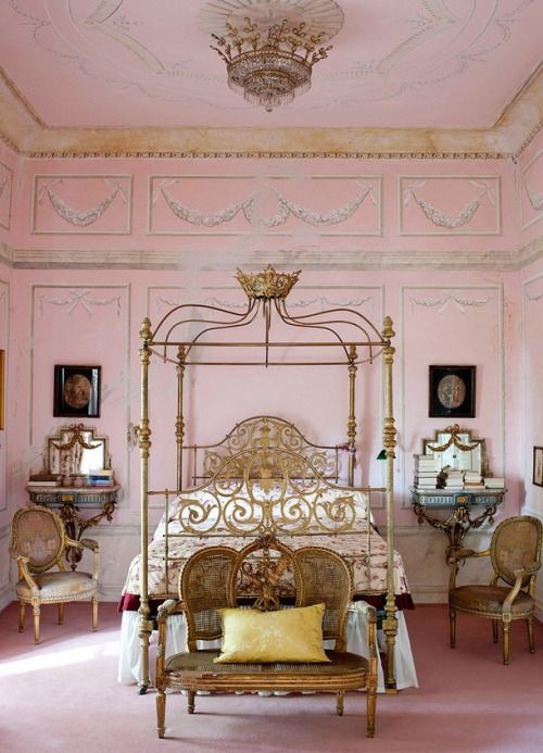 Ornate French bedroom