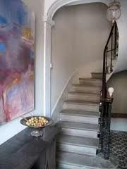 French Country Hall with modern art La Souqueto Mirepeisset