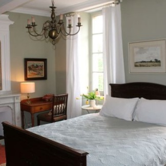 Comfortable French Country guest room