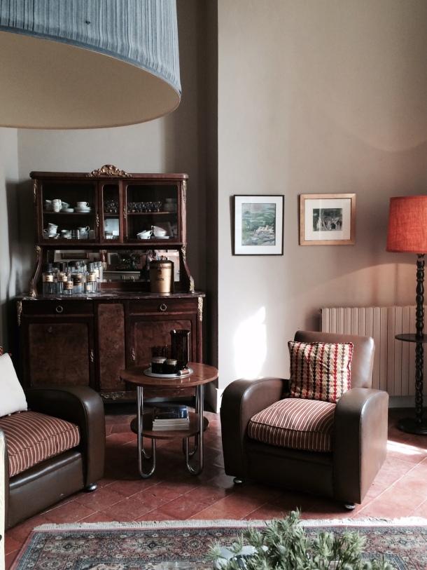 Mixed Vintage furniture in Chateau Latigolle