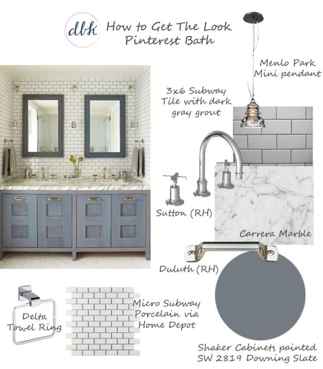 Bathroom Moodboard by designbykaty.com