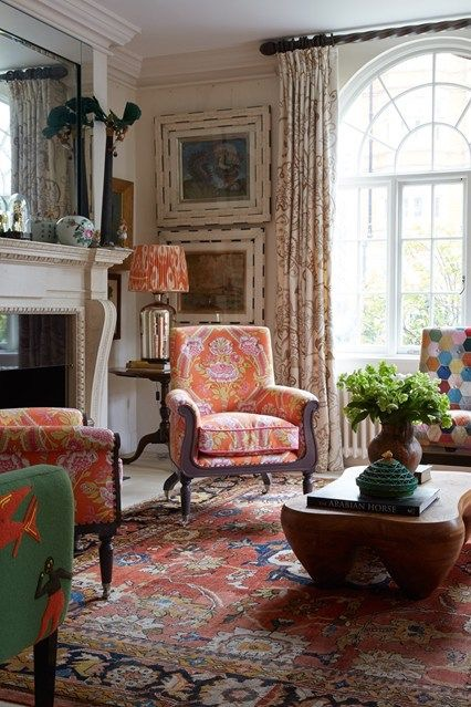 Classic Sitting Room with orange he