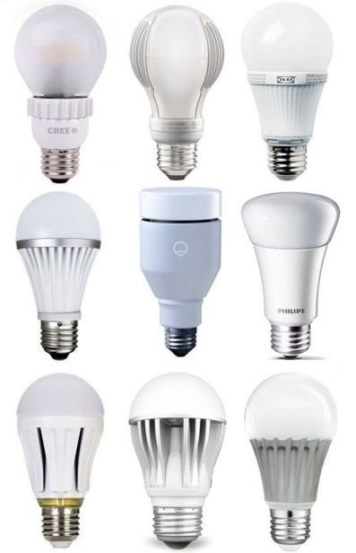 Lightbulb choice for screw fittings