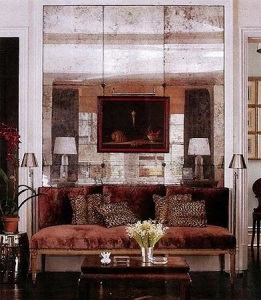 Large antiqued wall tiles