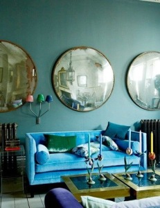 Unified round mirror wall display