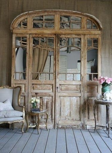 Beautiful Mirrored Antique Door
