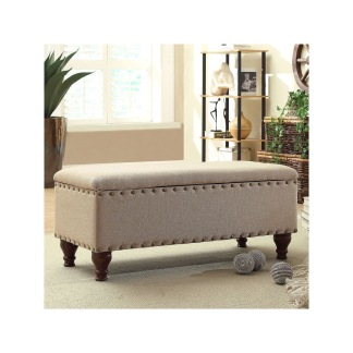 Plain upholstered ottamon