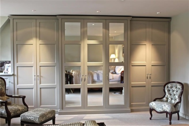 Built in wardrobes with external lighting
