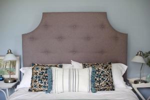 Plain grey buttoned Bedhead Headboard