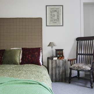Henley Design Headboard with checked fabric
