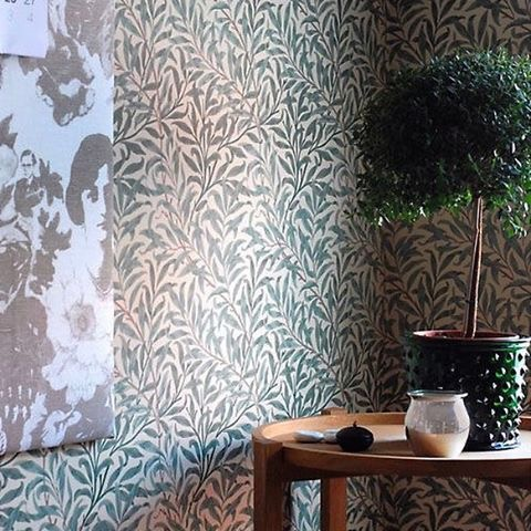 Willow Bough wallpaper paired with contemporary furniture