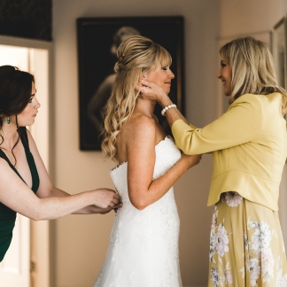 Bride preparing for her wedding